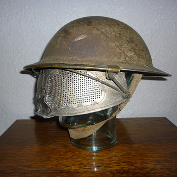 Another British WWII Experimental Cruise Visor steel helmet.