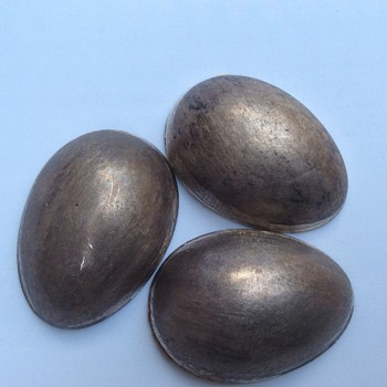 Silver egg shape items
