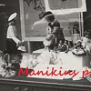 Old Photo of Mannequin and doll display store window