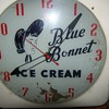 Vintage Blue Bonnet Ice Cream Clock