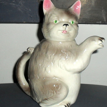 Vintage Cat Creamer Hand Painted Japan