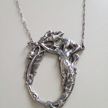 Art Nouveau Mermaid necklace  - Love it - how old?