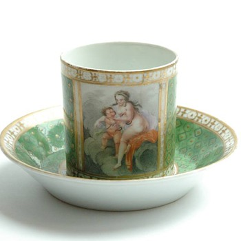 "rare antique french porcelain cup "" tasse litron"" from the 18th century  probably by Schœlcher"