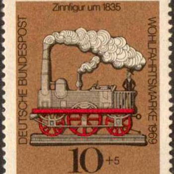 "1969 - W. Germany - ""Tin Toys"" Postage Stamp Series"