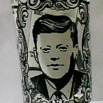 JFK  1917-1963 Inaugural Address Drinking Glass