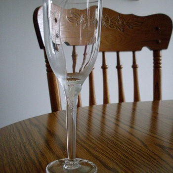 Lalique Etched Wine Glass