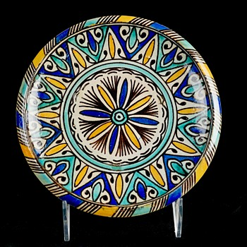 Set of 4 Hand Painted Plates - Moroccan?