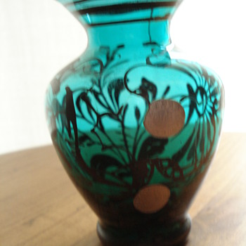 Murano hand painted vase - Art Glass