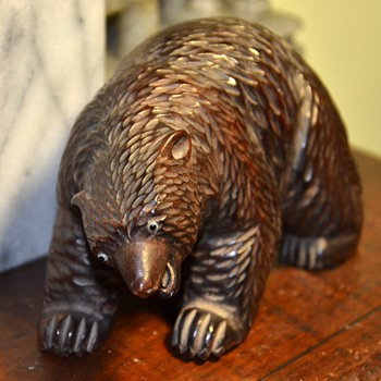 Little Blackforest Bear with Glass Eyes and Ivory Teeth - Animals