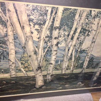 Luigi Lucioni picture White birches of Vermont - Visual Art