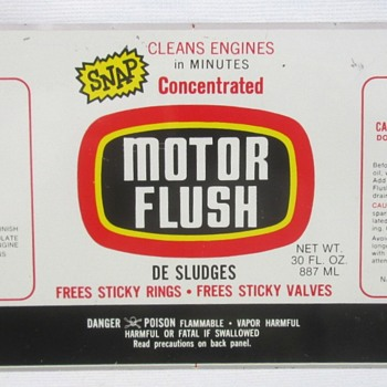 Motor Flush Unfinished Tin Can - Advertising