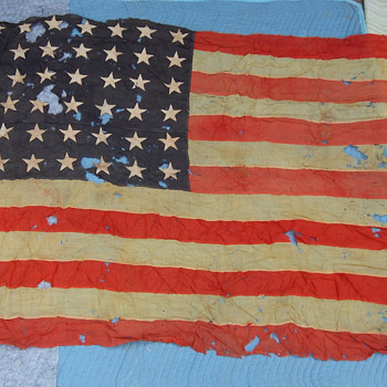 Old 48 Star American Flag - Military and Wartime
