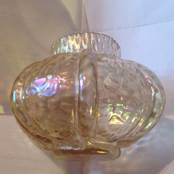 Irridescent glass posy bowl, Martele, Kralik? - Art Glass