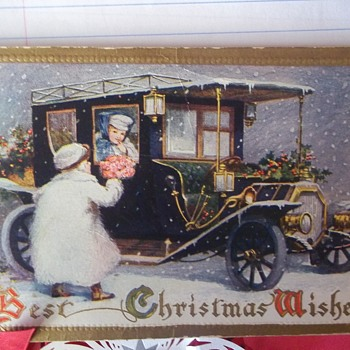 Christmas Postcard.   1914.   Beautiful Illustration.  One Of My Favorites!!