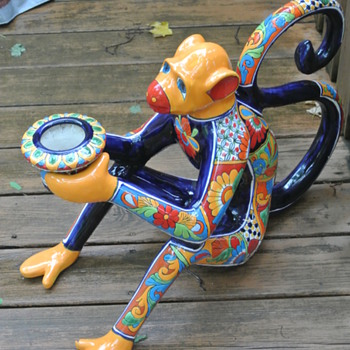 "Rather Large Monkey and Some Sun....""Talavera Style"" - Animals"