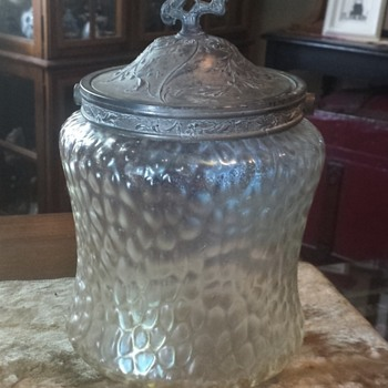 Kralik Martele Biscuit jar - Art Glass