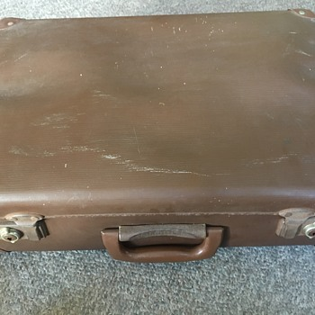 Vintage Australian school suitcase