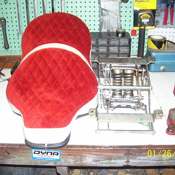 Vintage motorcycle seat - Motorcycles