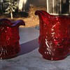 North wood Red Cherry &Cable Creamer and????