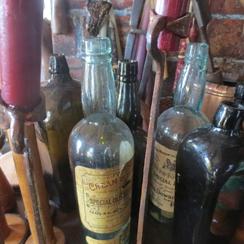 An Array of Old Bottles and More - Bottles