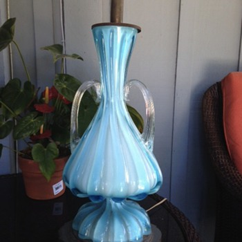 My Grandmother's lamp - Art Glass