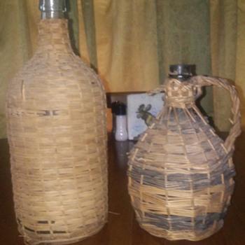 Wicker jugs