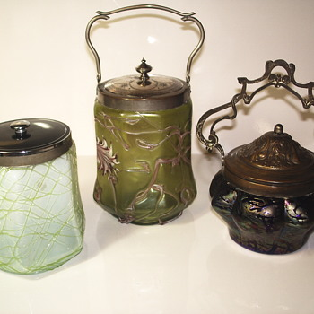 "My Small collection of Bohemian Biscuit Jar""Kralik/PALLME-KONÏG"" - Art Glass"