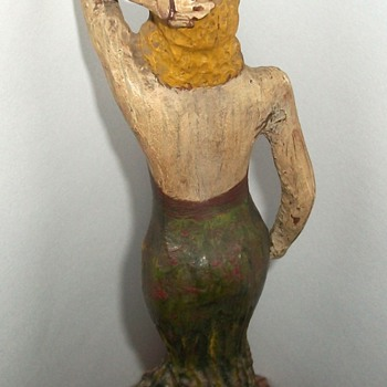 """Wooden Pin Up"" Vintage Folk Art Carved Woman Figure collection Jim Linderman"