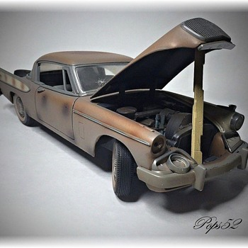 1957 Studebaker Golden Hawk Project Car Diecast - Model Cars