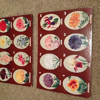 Vintage Flower Game Boards - Games