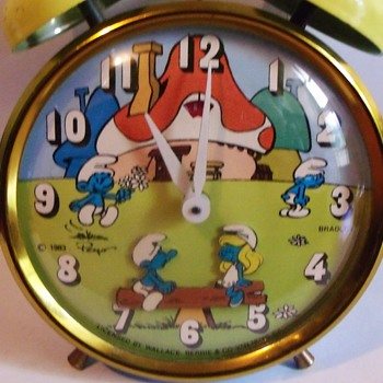 Animated Smurfs Alarm Clock