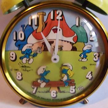 Animated Smurfs Alarm Clock