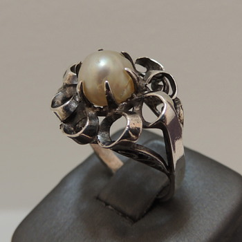 Sterling & Pearl Ring - Fine Jewelry