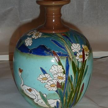 Mystery Swan vase.  - Art Pottery