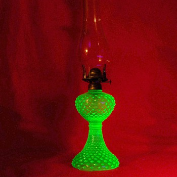 Uranium Glass Oil Lamp