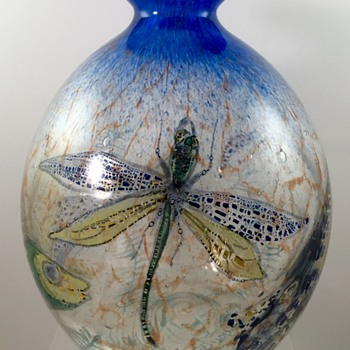 "Hantich & Co. ""Johnolyth"" Vase, Haida, ca. 1931 - Art Glass"