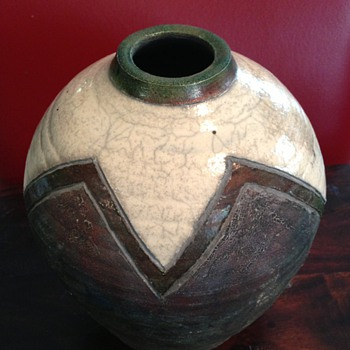 Beautiful Raku Vase - Art Pottery