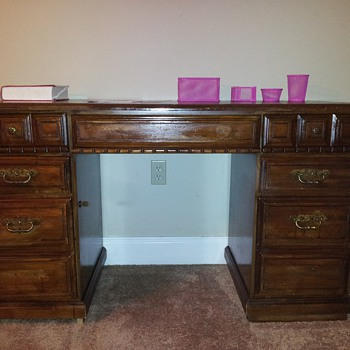 Vintage Wooden Desk - Furniture