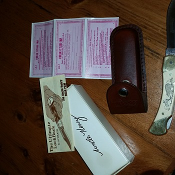 schrade LB7 bear paw purchase in ellenville ny 1985