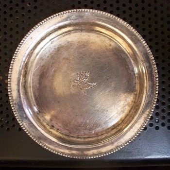 Silver or Not Silver?  Small Coaster with Giffin design + Horse Mark