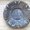 An Old Pewter Souvenir Plate/ Tourist Piece Made, Perhaps, For A Paris Exposition?