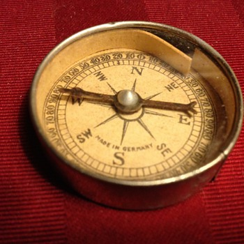 Made in Germany Compass Pocket Mirror 1920's? - Advertising