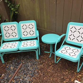 Vintage restoration Hardwear motel glider patio set  - Furniture