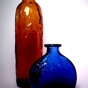 Two Bottle Vases by Klaus Breit for Wiesenthalhütte - Art Glass