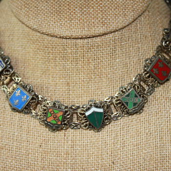 Enamel Shields Necklace