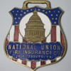 National Union Fire Insurance &quot;Farm Dept&quot; Enamel Watch Fob