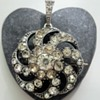 Antique silver and paste brooch/pendant, mysterious maker again!