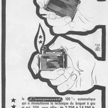 1961 - Silver Match Lighters Advertisement - French - Advertising