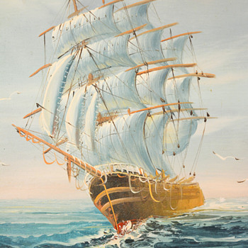 Painting of Sailing Ship - Visual Art