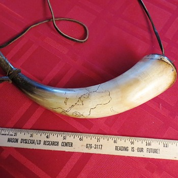 powder horn without a history - Folk Art